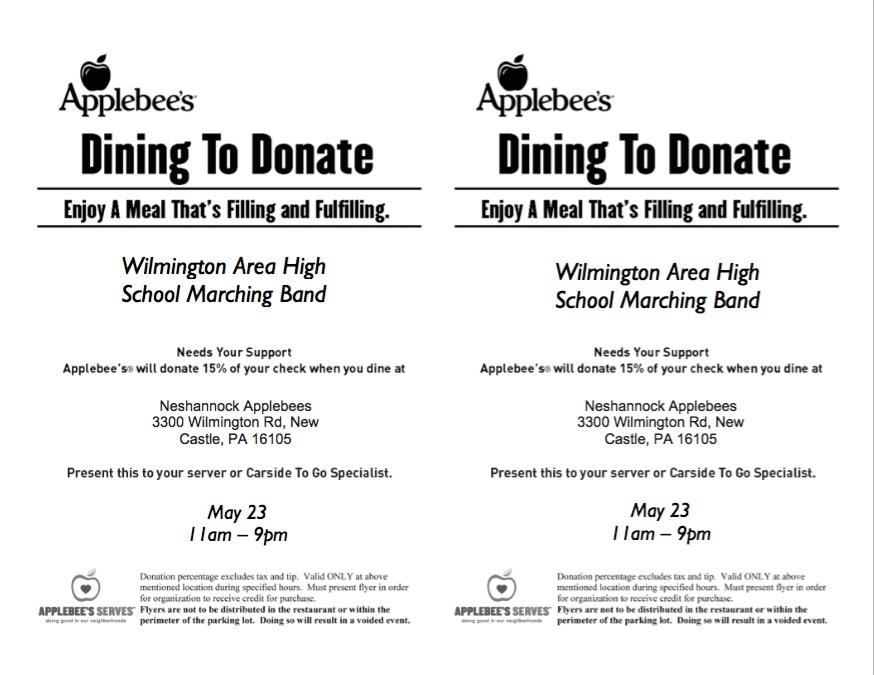 May 23 Applebees Flyer