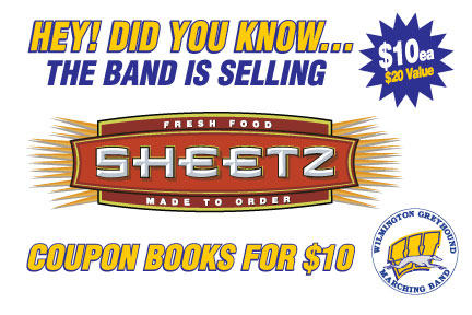 Sheetz Coupon Books Available at the Band A Rama on May 17th